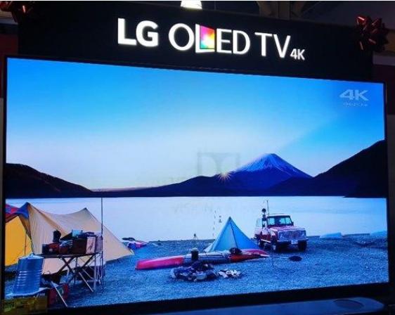 LG电子的OLED电视展示机出现了烧屏现象