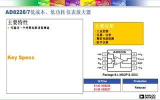 AD8226轨到轨输出仪表放大器的性能及工业应用研究