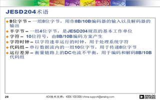 采用JESD204标准的高速串行接口的应用