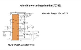 LTC7821混合式降压型同步控制器的特点及应用