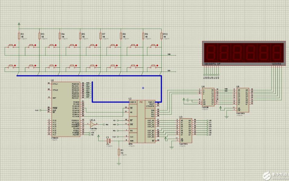 8279的数码显示器显示被按下的键的程序