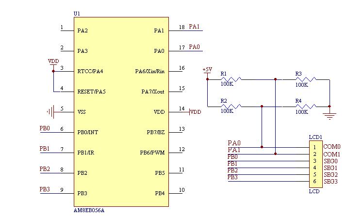 用单片机IO口直接驱动段式LCD的方法详细说明