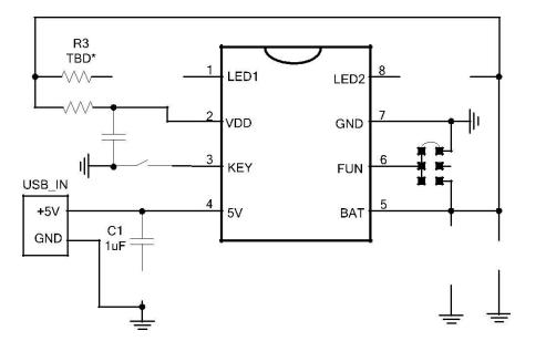 HT463X LED手电筒控制芯片的数据手册免费下载