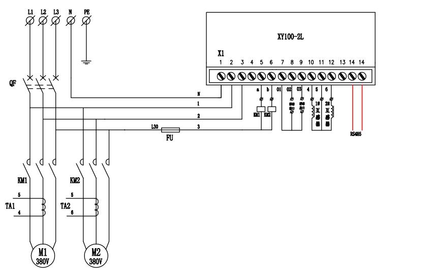 污水泵控制系统的电路原理图免费下载