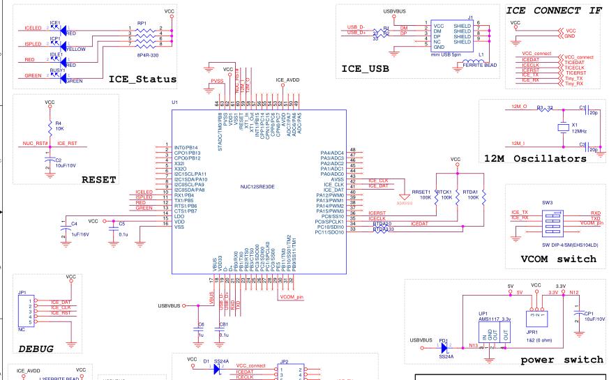新唐N76E003评估板的用户手册和电路原理图等资料合集免费下载