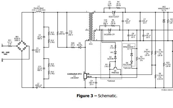 非隔离反激式变换器的设计示例报告资料免费下载