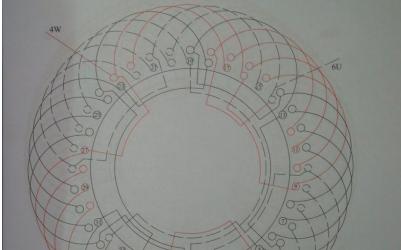 36槽双速电机接线电路原理图免费下载