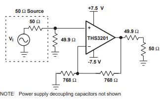 THS3201高速电流反馈放大器的数据手册免费下载