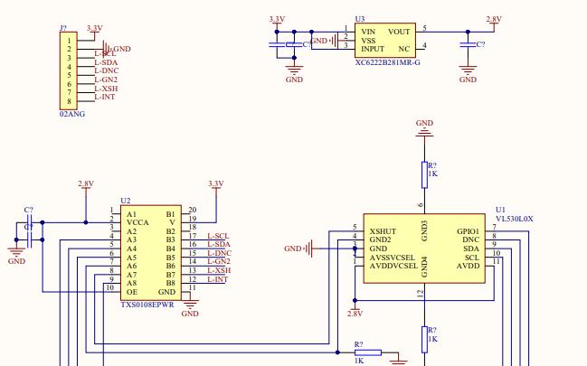 简易激光vl530l0x电路原理图免费下载