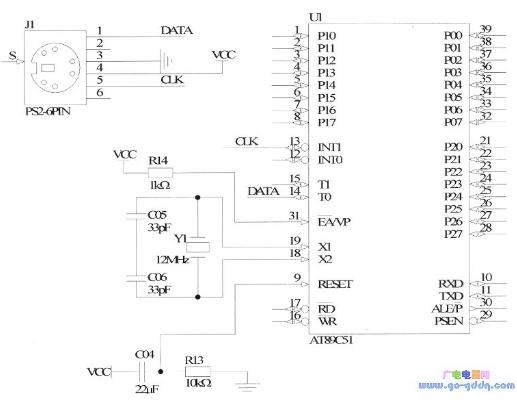 51单片机对PS2键盘的控制设计