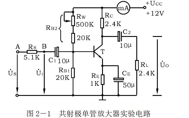晶体管共射极单管放大器的使用实验指导书免费下载