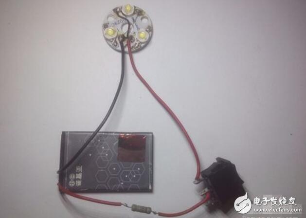 创造壹盏顺手机把持多色却调的LED灯