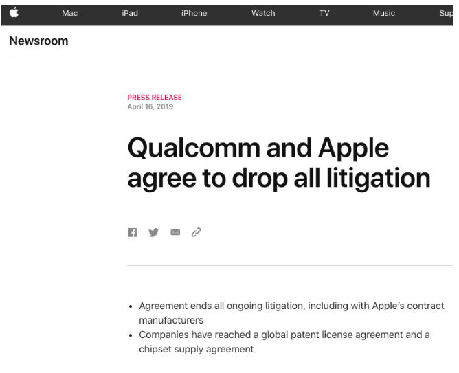 苹果和高通突然和解 5G iPhone是否有戏