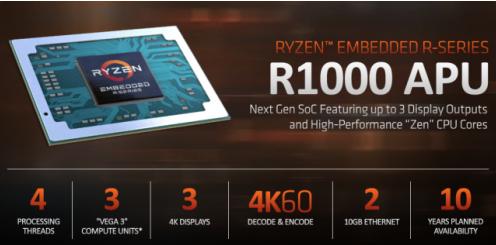 """AMD嵌入式系列迎来""""ZEN+VEGA""""时代 处理器性能得到了全面的提升"""