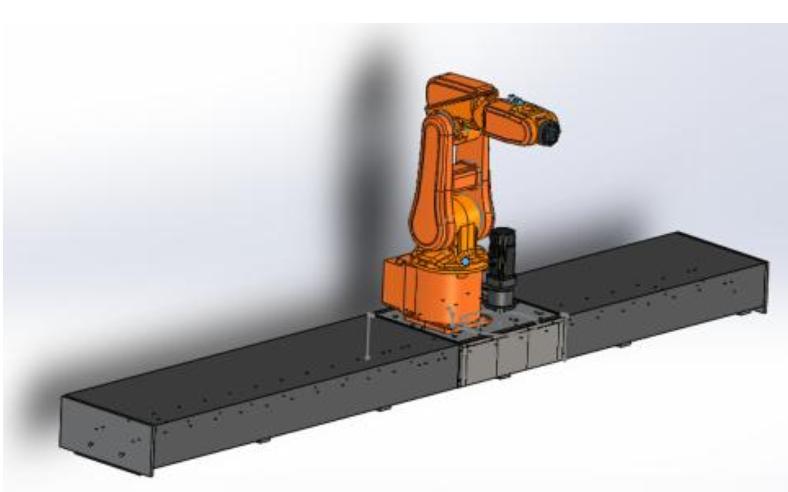 工业机器人导轨的3D模具图详细资料免费下载