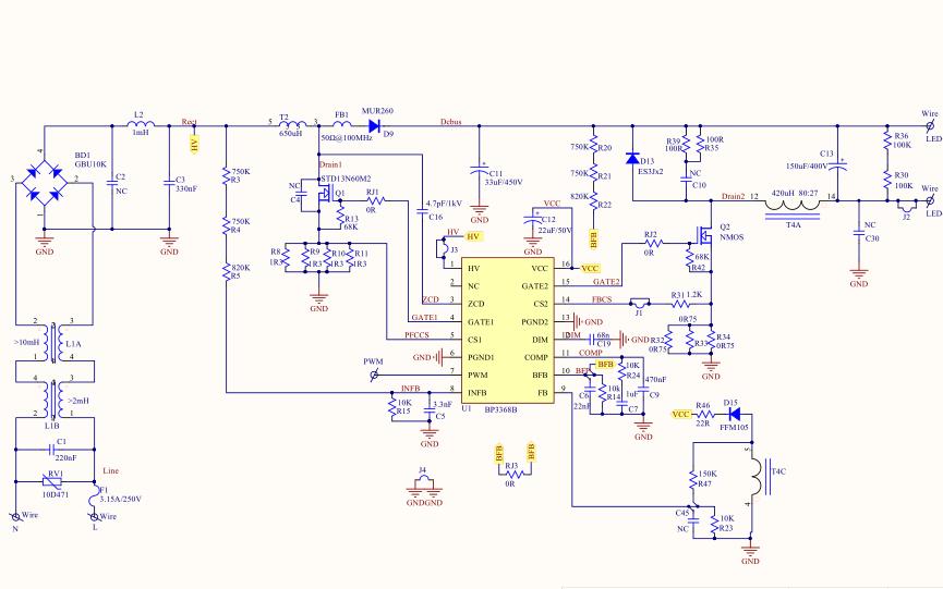BP3368B评估板的PCB和电路图及参数和变压器工艺说明书64222葡京的网址合集