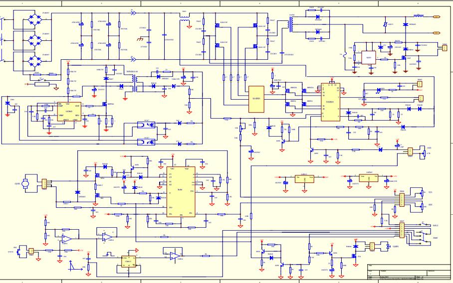mig250 mos管整机电路原理图免费下载