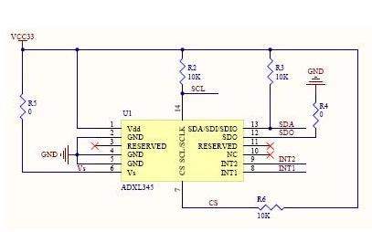 ADXL345加速度计的程序资料说明