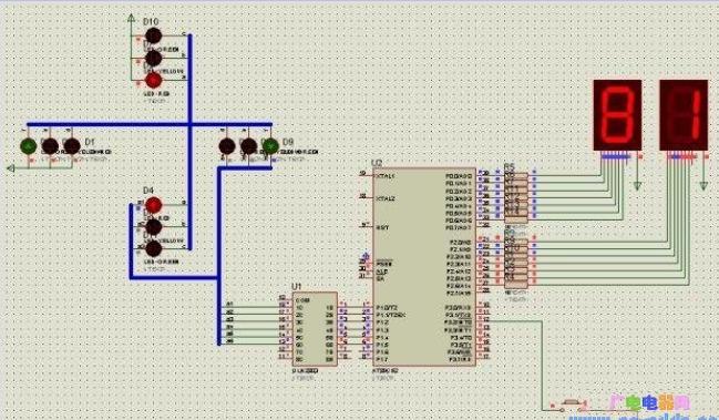 51单片机对交通灯的控制设计