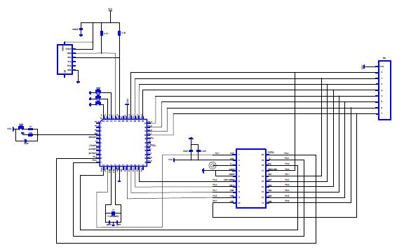 STC89C52单片机的输出电压型和输出LED型电路原理图免费下载