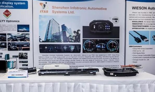 深圳华一全液晶仪表及中控导航亮相沃尔沃汽车