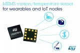 意法半导体推出单片集成三轴MEMS加速度计和温度传感器的产品:LIS2DTW12