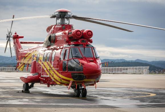 国网通航成功接收了首架重型双发空中客车H215直升机