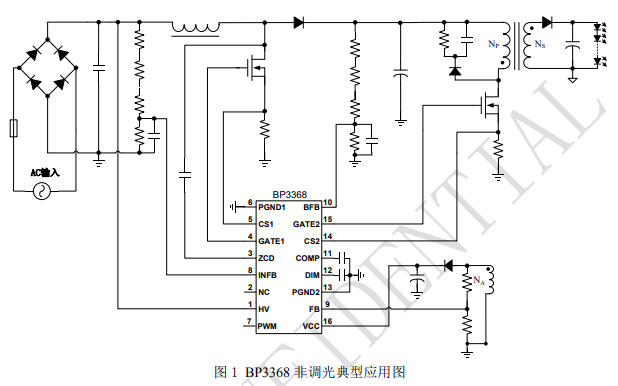 BP3368 LED恒流驱动控制器芯片的数据手册免费下载