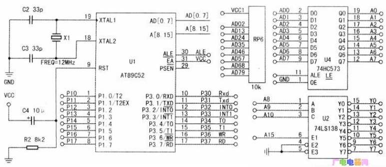 如何采用51单片机设计出总线编址电路