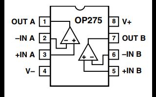 OP275音频运算放大器的数据手册免费下载
