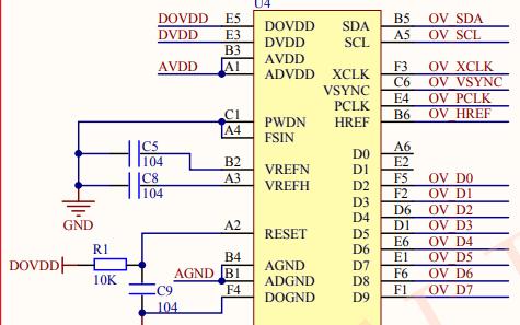 OV7725 V1.2摄像头电路原理图免费下载