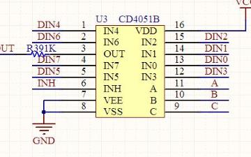 逻辑设计:CD4051数据手册视频详细讲解