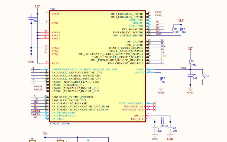基于Arduino的麦克纳姆轮小车电路原理图免费下载