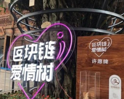 福州推出了一棵區塊鏈愛情樹可以實現用數字來紀錄生...