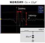 添加電容器來降低DC/DC轉換器輸出電壓噪聲的示...