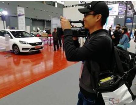 河北电信携手华为在石家庄国际会展实现了首次5G背包+4K超高清直播