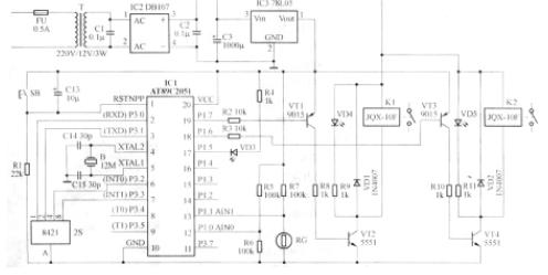AT89C2O5l單片機對雙路路燈照明控制器的設計
