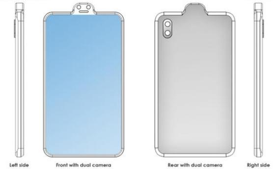 小米全面屏设计方案新专利曝光无刘海全面屏形态整体造型像一个笑脸