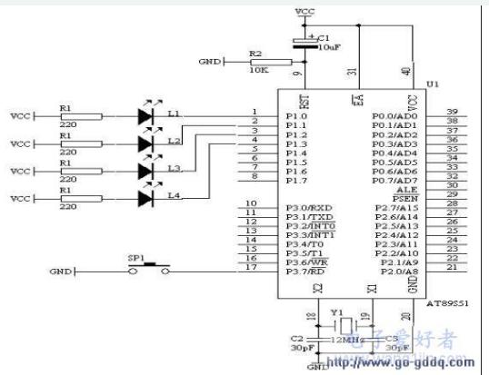 AT89S51单片机按键识别的过程和方法