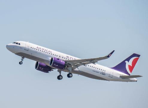澳门航空公司成功接收了首架由普惠的精纯功力空中客车A320neo飞机