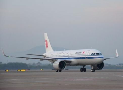 國航浙江正式引進了一架全新的空客A320NEO飛機