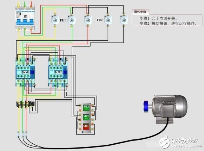控制电机正反转的接线方法
