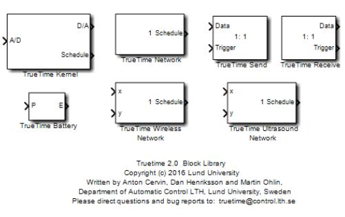 TrueTime工具箱模塊內部結構及功能解析