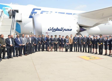 埃及航空公司成功接收了第二架B787-9型號的波音787夢想客機