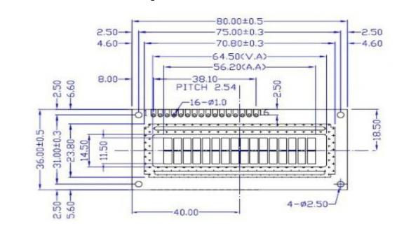 LCD1602蓝底白字显示屏的详细资料和使用说明免费下载