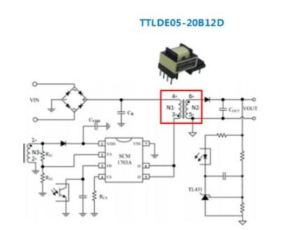 金升阳推适用于5W的AC/DC隔离直插式变压器