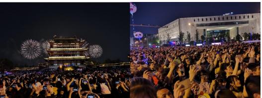 湖南移動通過5G技術在長沙橘子洲焰火廣場實現了現...