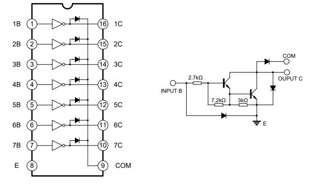 ULN2003双极型线性集成电路的数据手册免费下载