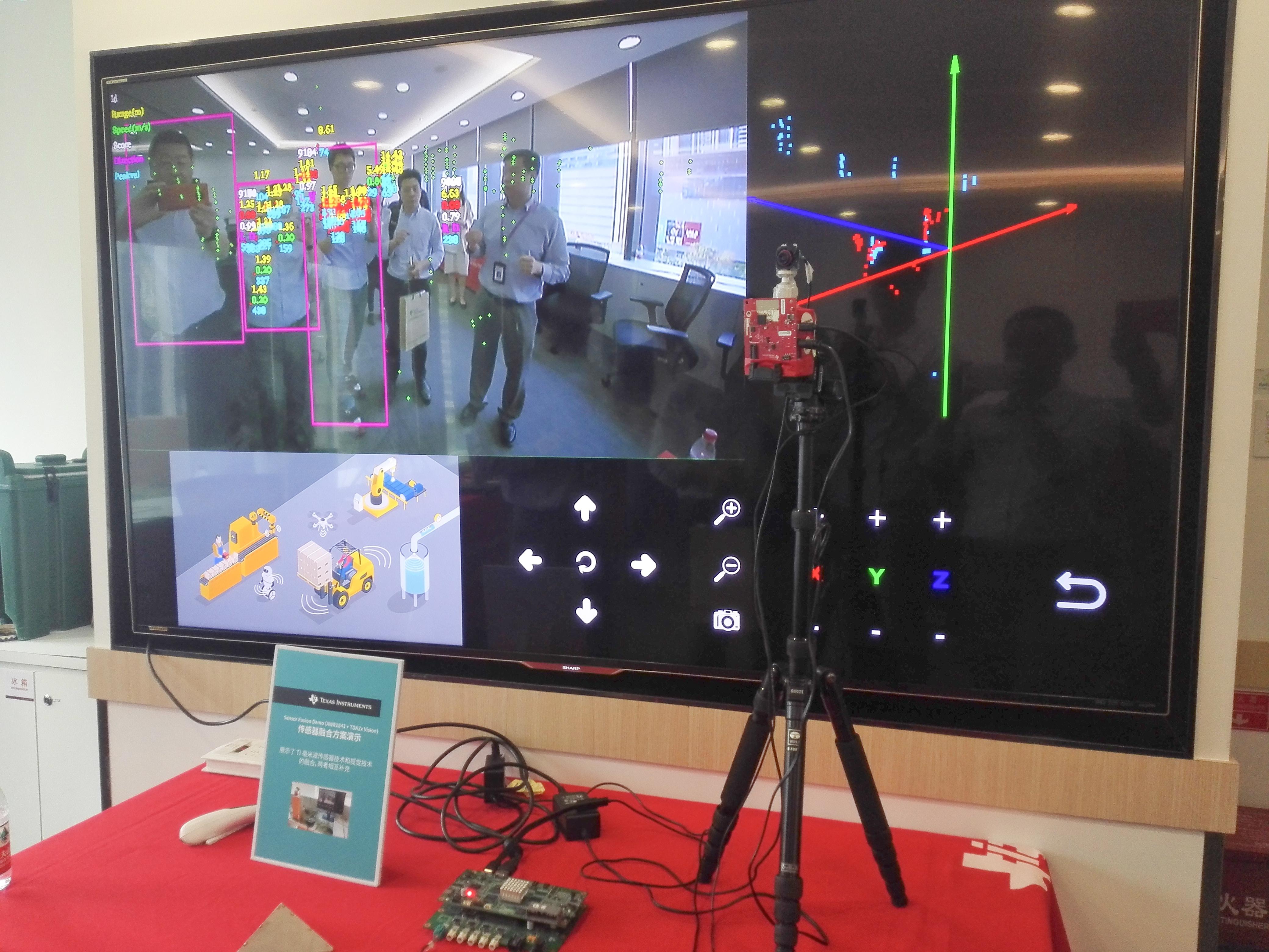 TI演示了其60 GHz毫米波传感器IWR6843的应用