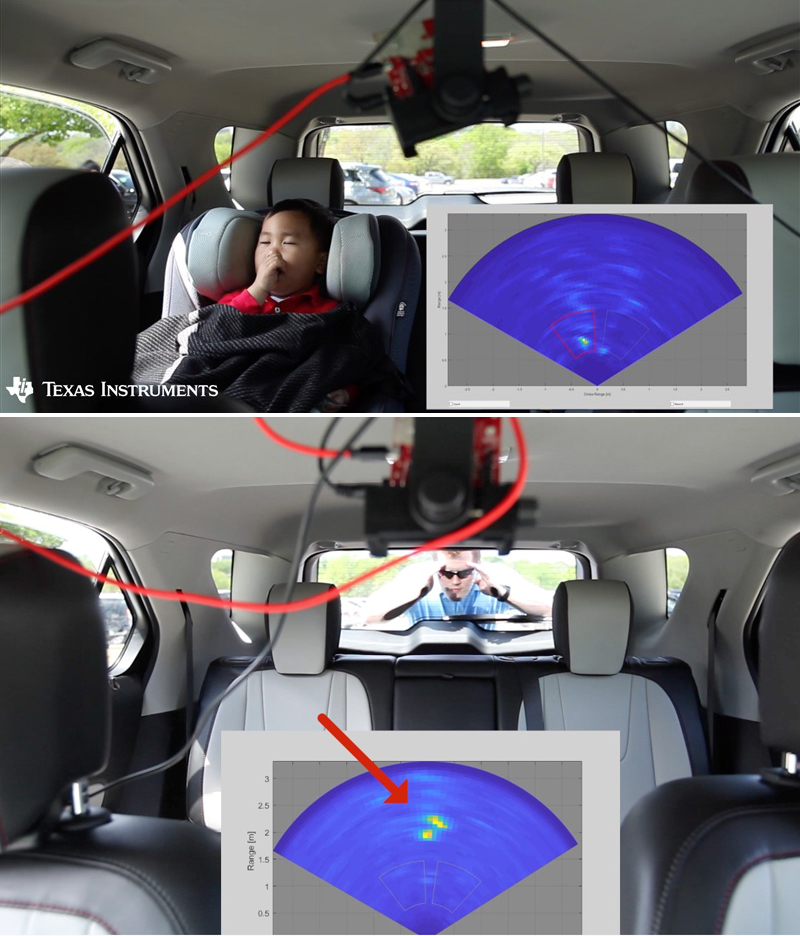 车内婴儿检测实验